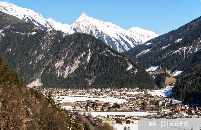 Vinyl Fotobehang Skigebied Mayrhofen - Vakantie