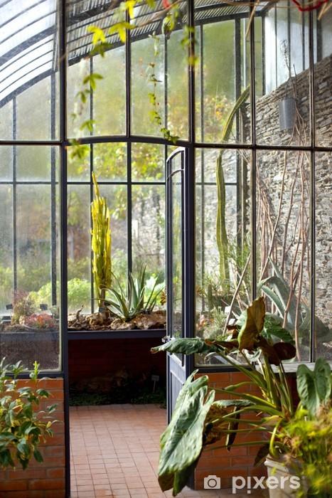 Véranda, serre, maison, intérieur, jardin, jardinage Sticker ...