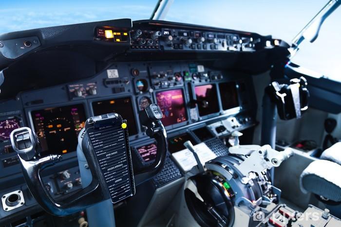 Fototapeta winylowa W kokpicie samolotu pasażerskiego - Wideo