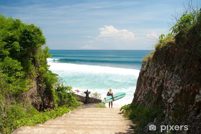 Carte Bali Balangan.Balangan Beach Bali Wall Mural Vinyl