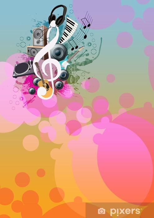 Vinilo Pixerstick Música cartel - Música