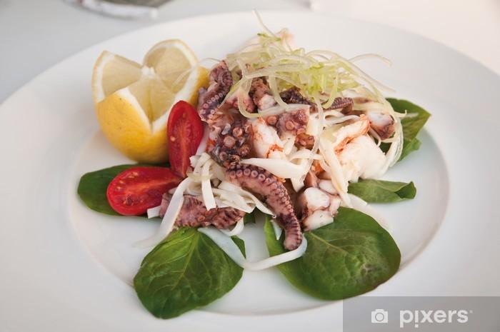 Vinyl-Fototapete Oktopus-Salat - Gerichte