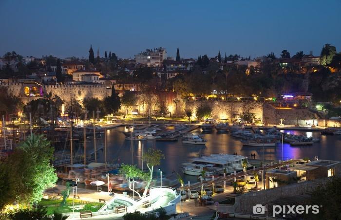 Sticker Pixerstick Le vieux port d'Antalya en Turquie - Vacances
