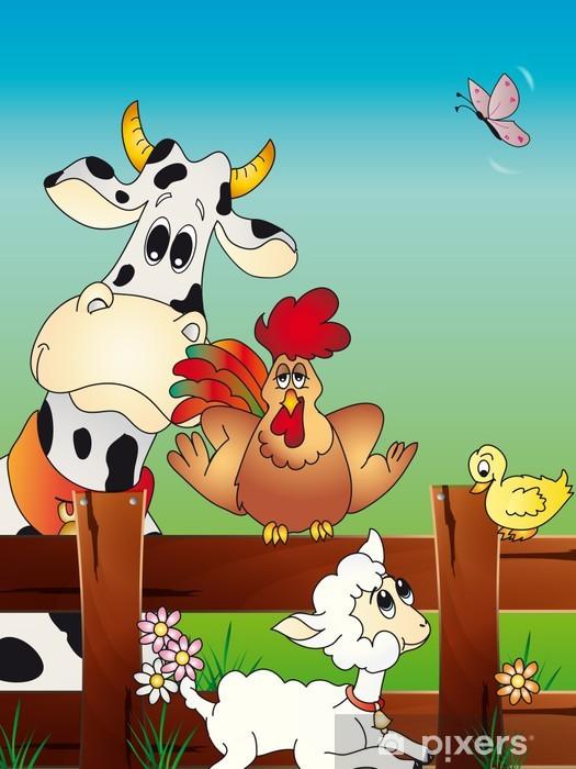 Animal farm cartoon sticker u2022 pixers® u2022 we live to change