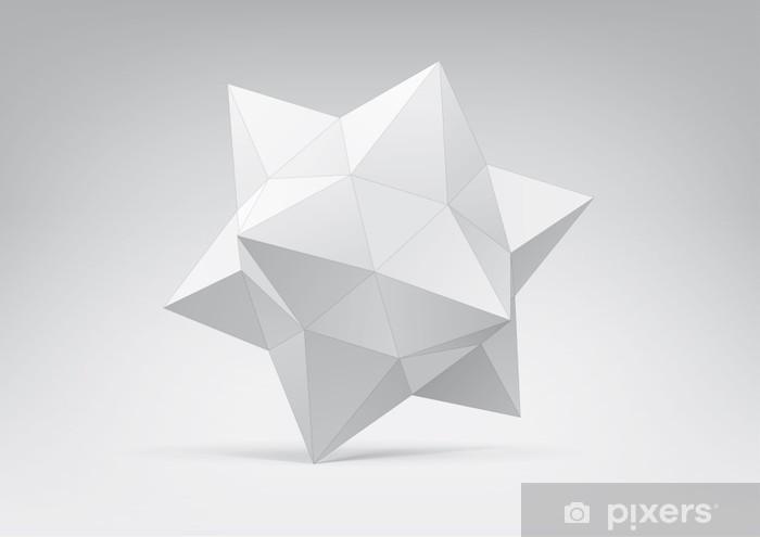 Naklejka Pixerstick Abstrakcyjne geometryczne kształty od piramid - Nauki stosowane i ścisłe