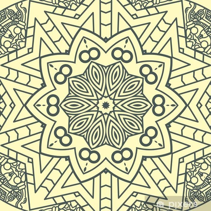 Vinyl-Fototapete Vector Runde dekorativ element - Blumen