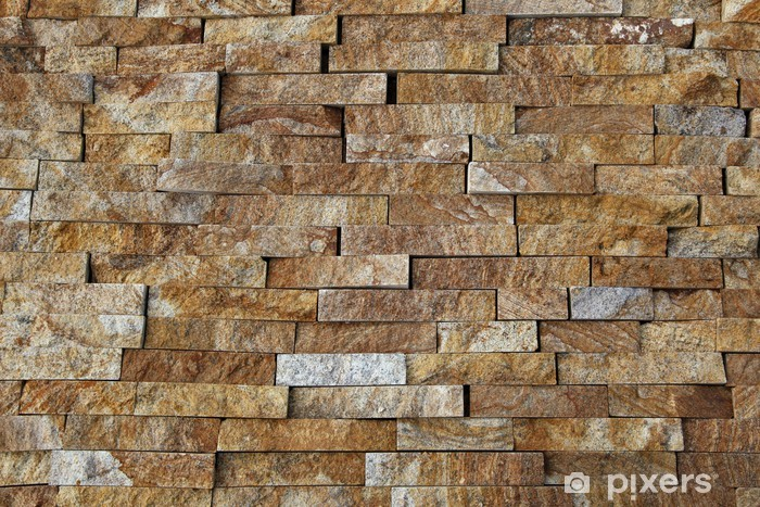 Natural stone pieces tiles for walls Vinyl Wall Mural - iStaging