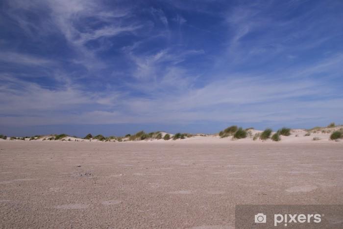 Papier peint vinyle Dunes de la plage et le ciel bleu - Eau