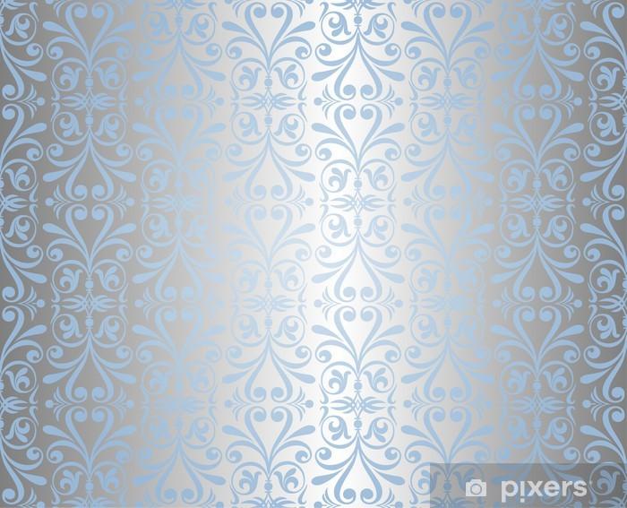 Fotomural Estándar Papel tapiz de fondo azul y plata de Año Nuevo - Temas
