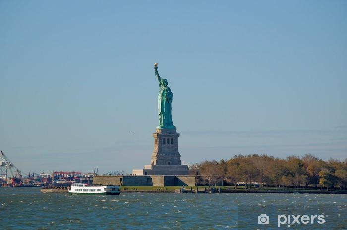 Naklejka Pixerstick Statua Wolności w jesieni - Wolność
