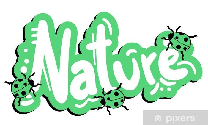 Naklejka Pixerstick Natura grafitti - Naklejki na ścianę