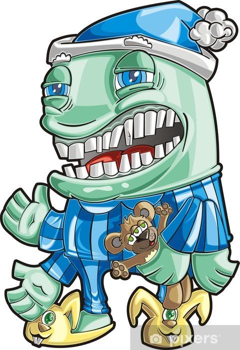 Naklejka Pixerstick Pijamas potwór - Fikcyjne zwierzęta