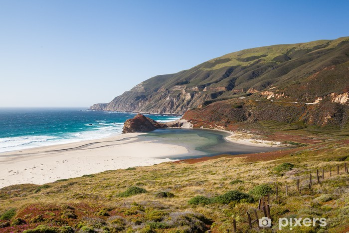 Carta da Parati in Vinile Tranquilla spiaggia lungo la costa della California - America