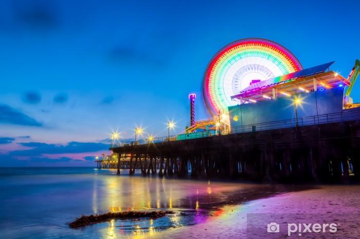 Papier peint vinyle Santa Monica Pier, au crépuscule - Thèmes