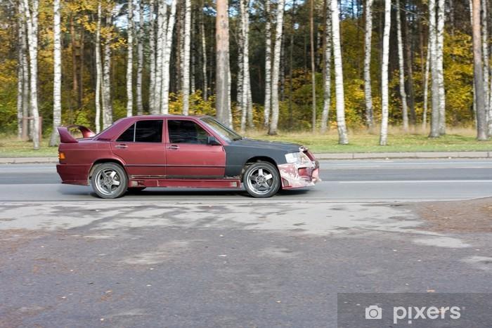 Papier peint vinyle Course de rue battue battu grunge de voiture de ma série de voitures - Sports extrêmes