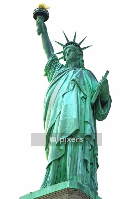 Muursticker NY Statue of Liberty geïsoleerd op wit - Muursticker