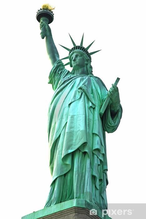 Fotomural Estándar Nueva York Estatua de la Libertad aislado en blanco - Vinilo para pared