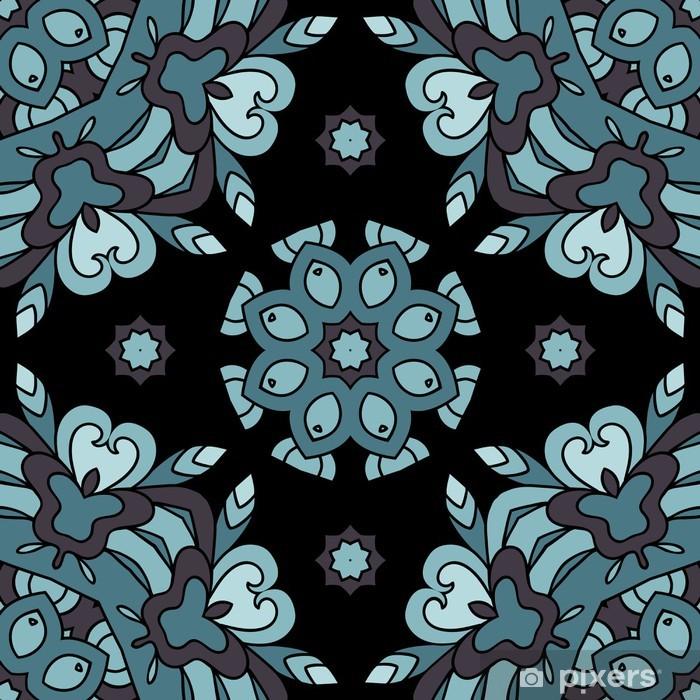 Naklejka Pixerstick Ozdobny wzór koronki, koło tło z wielu szczegółów, se - Tła