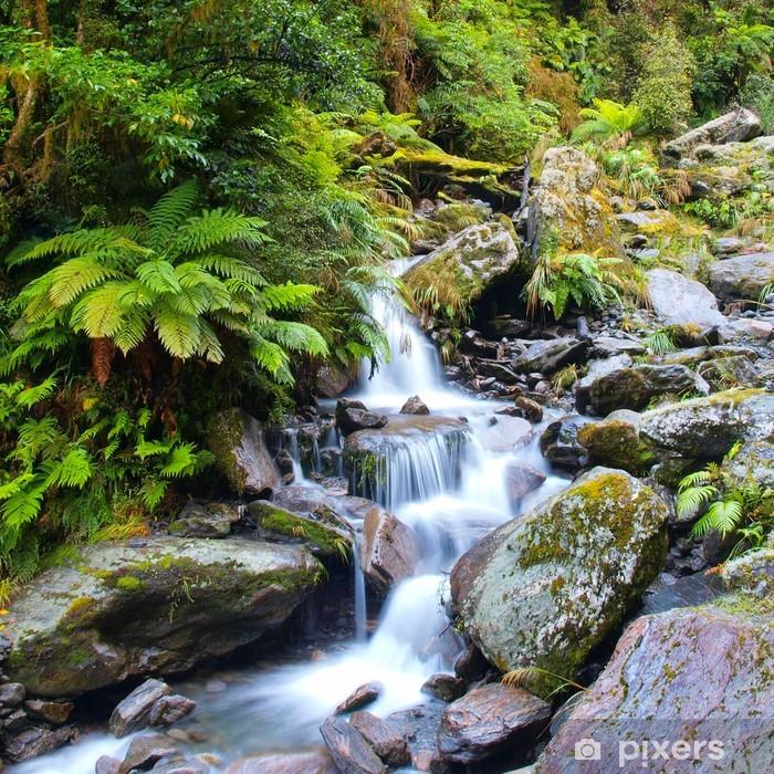 Plakat w ramie Wodospad w bujnym lesie deszczowym - Tematy