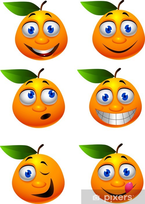 Fotomural Dibujos Animados Divertido De Naranja Pixers Vivimos