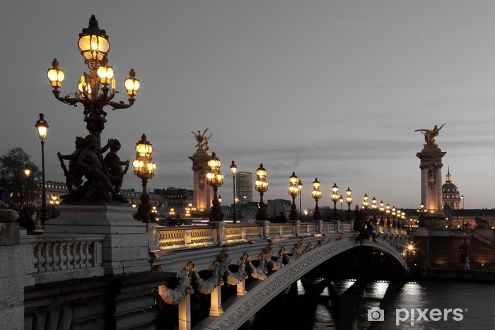 Alexander III bridge, Paris, France Pixerstick Sticker - Themes