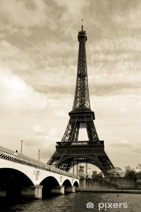 Papier peint vinyle Eiffel tower paris france - Styles