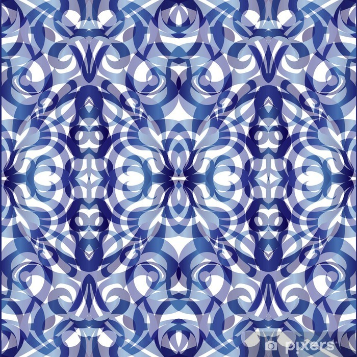 Sticker Pixerstick Style de tissu de fond indien - Asie