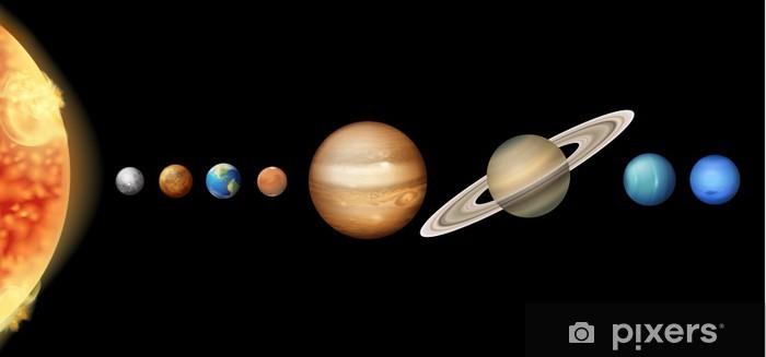 Papier peint vinyle Le système solaire - Saturne