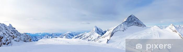 Papier peint vinyle Station de ski Zillertal glacier de Hintertux. Autriche - Thèmes
