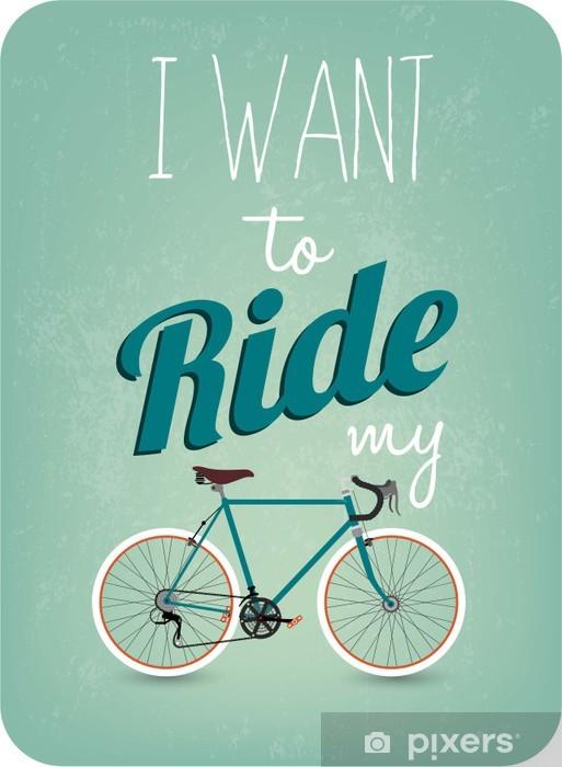 Papier peint vinyle Rétro fond de vélos -