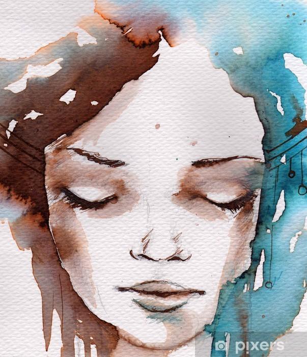 Zelfklevend Fotobehang Winter, koude portret - Stijlen