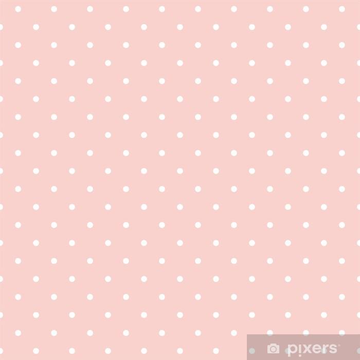 Fototapeta winylowa Kropki na tle różowy dziecka bez szwu wektor wzór - Tematy