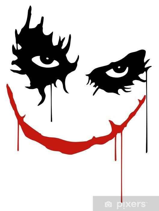 Sticker Pixerstick Joker sourire -
