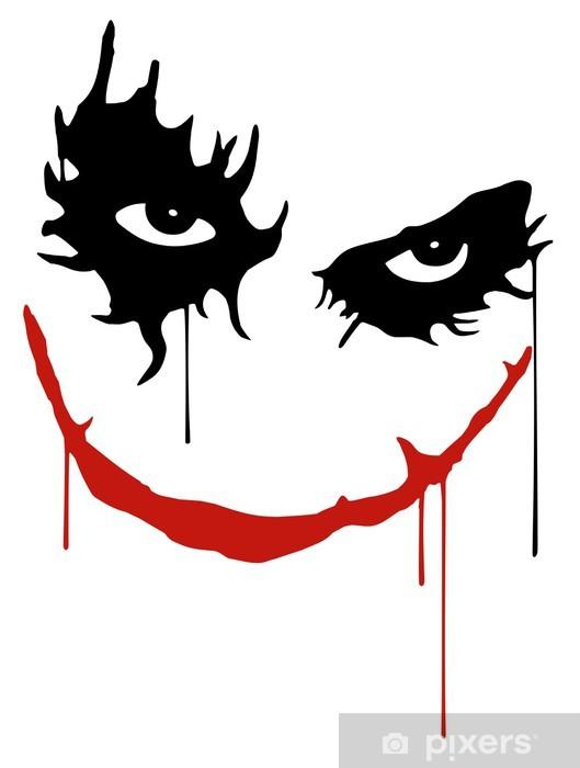 Vinilo Pixerstick Joker sonrisa -