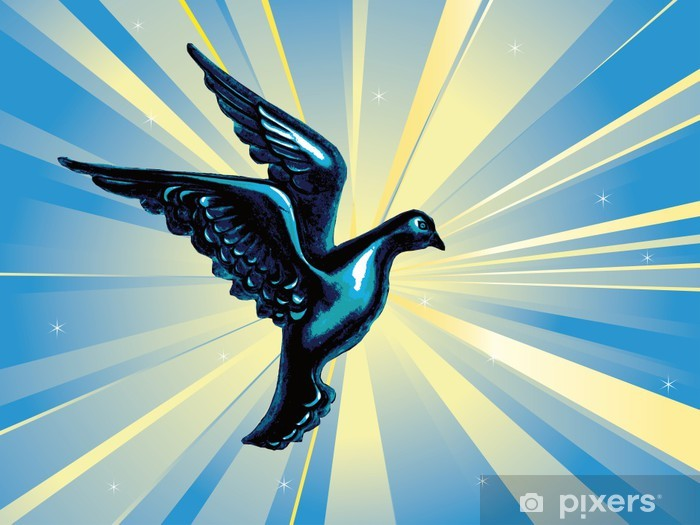 Sticker Pixerstick Pigeon - Liberté