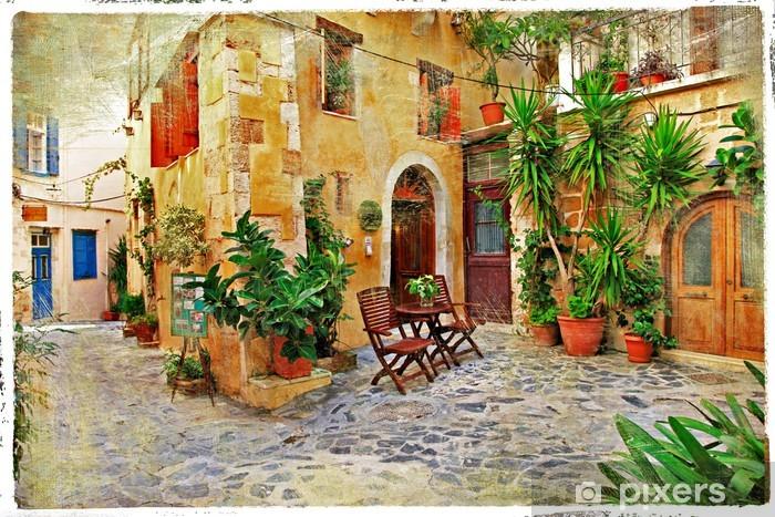 Fototapeta winylowa Chania, urokliwe uliczki starego crete- - Tematy