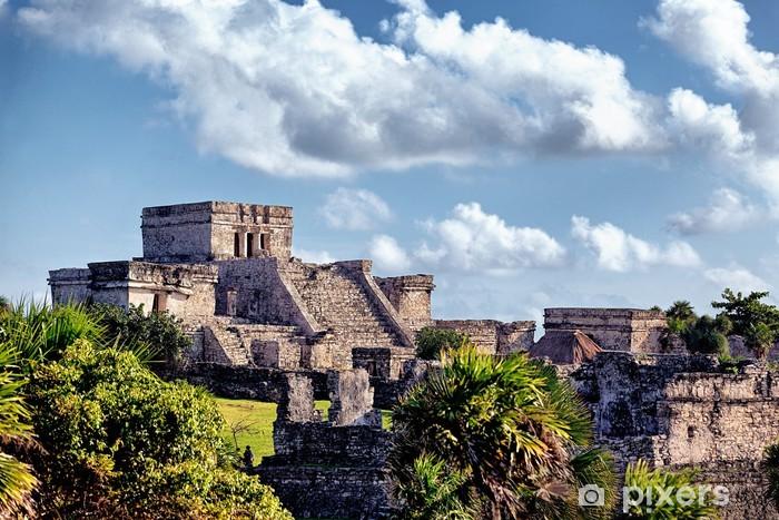 Pixerstick Sticker Beroemde historische ruïnes van Tulum - Thema's