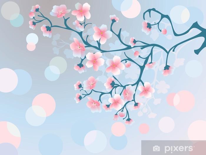 Fototapeta winylowa Rano kwiaty wiśni - Tematy