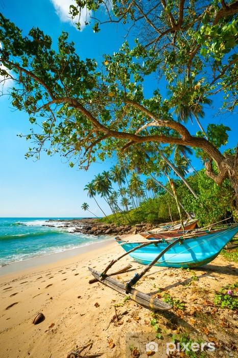 Papier peint vinyle Untouched plage tropicale - Eau