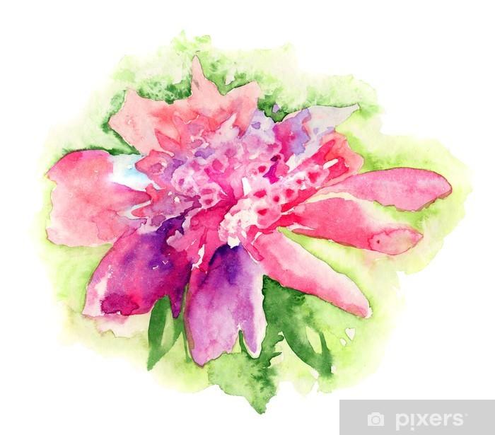 Poster Fleur De Pivoine Rose Peinture Aquarelle Pixers Nous Vivons Pour Changer