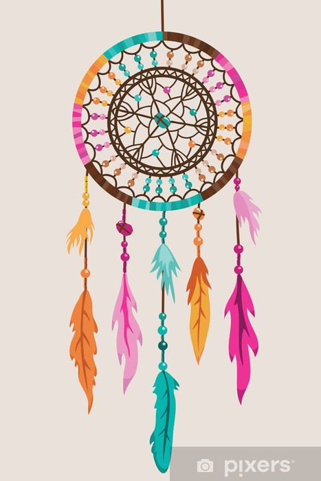 Vector Dream Catcher Vinyl Wall Mural - Styles
