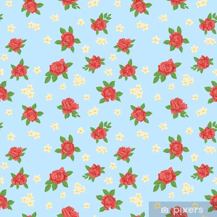 Plakát Květinový vzor bezešvé - Pozadí