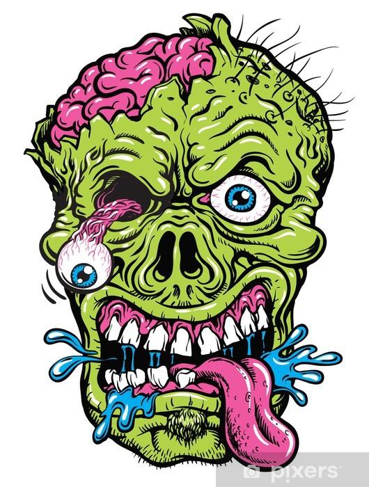Vinylová fototapeta Detailní Zombie Head Ilustrace - Vinylová fototapeta
