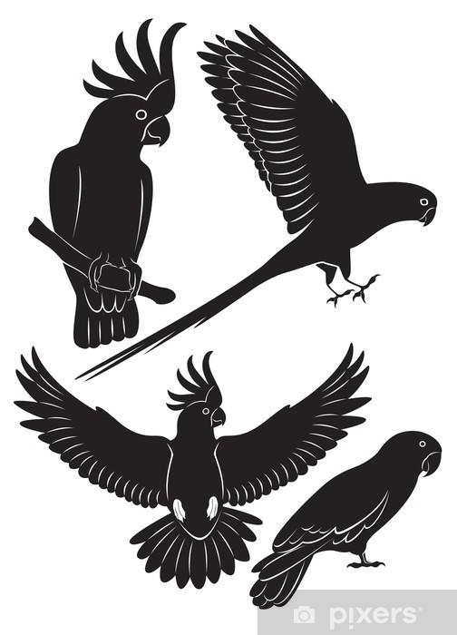 Naklejka Pixerstick Papuga - Ptaki