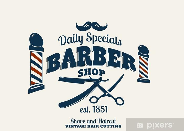 Fototapeta winylowa Barber Shop - Wąsy