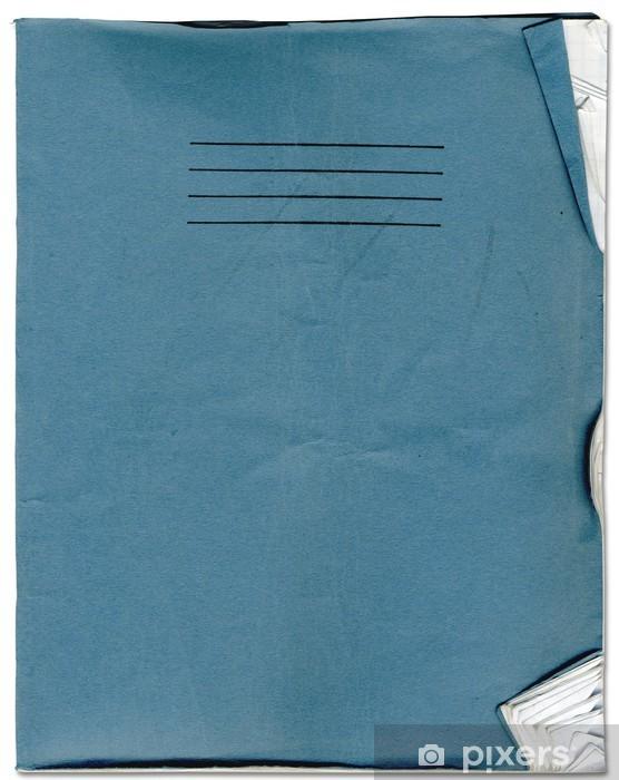 Naklejka Pixerstick Nieostrożne Old School Notebook Texture - Tła