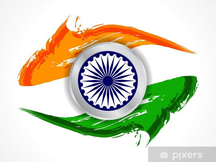 beautiful indian flag design wall mural • pixers® • we live to change