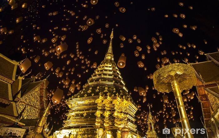 Naklejka Pixerstick Złota pagoda i yeepeng - Azja