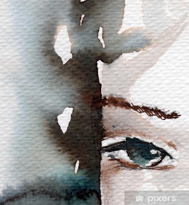 Papier peint vinyle Hiver, portrait froid - Thèmes