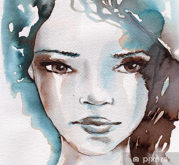 Fototapeta winylowa Zima, zimno portret - Style